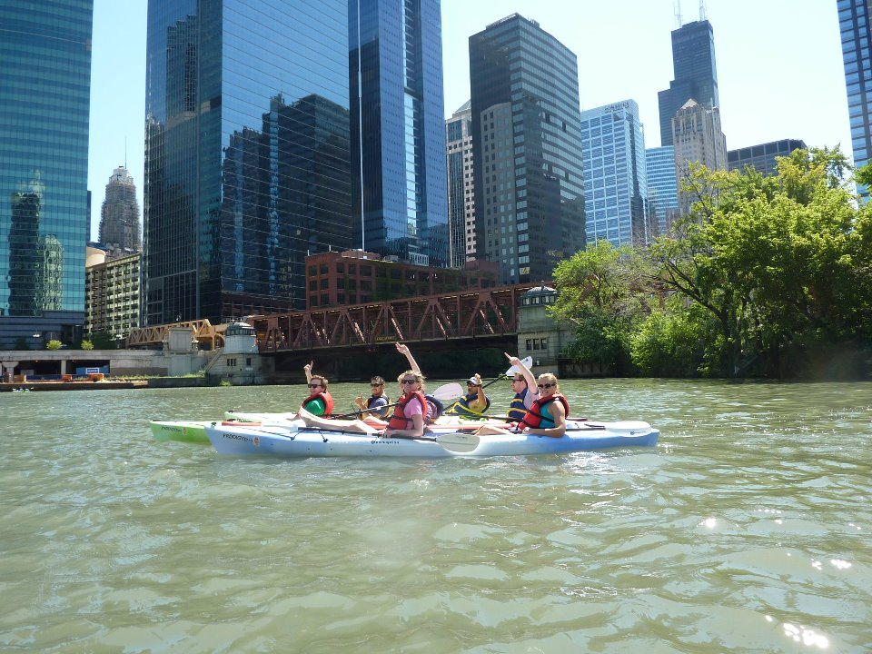Chicago Employees on a Chicago River kayak tour